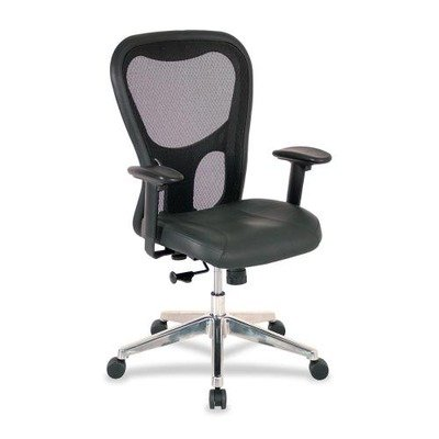 Lorell High-Back Executive Chair, 24-7/8 by 23-5/8 by 44-1/8-Inch, Black