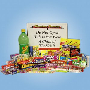 80's Decade Box Gift Basket - Classic 80's Candy
