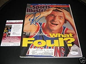 Bill Laimbeer Detroit Pistons Jsa coa Signed Sports Illustrated - Autographed NBA... by Sports Memorabilia