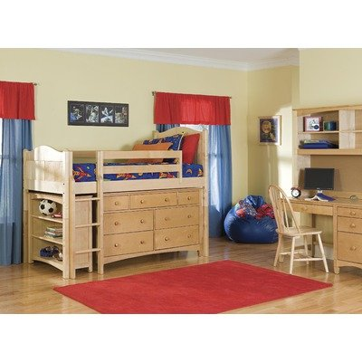 Low Loft Bed With Storage 6706 front