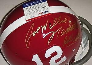 Joe Namath roll Tide Alabama Signed Full Size Throwback Helmet Q60639 - PSA DNA... by Sports Memorabilia