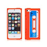 Retro Chic iPhone 5 Cassette Tape Silicone Case in Orange