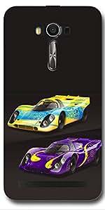 SEI HEI KI Designer Back Cover For Asus ZenFone 2 Laser ZE550KL - Multicolor