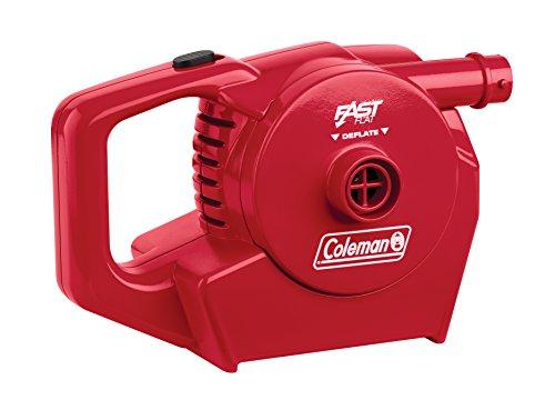 Coleman Luftpumpe elektrische Wiederaufladbar inklusive 12V und 230V Ladegerät, rot (23 x 14 x 11 cm)