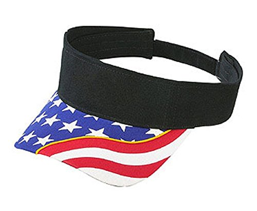 Hats & Caps Shop United States Flag with Yellow Ribbon Visor Superior Brushed Cn Twill (Solid Colors) - By TheTargetBuys
