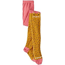 Hanna Andersson Baby Cozy Critter Tights, Size 80 (18-24 Months), Imagine Pink/Gold Dust