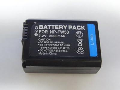 ■最新 ソニー NP-FW50 NEX-3/NEX5/nex-5n対応互換バッテリー  NEX-3NL NEX-3NY α37 NEX-6 NEX-6Y NEX-6L NEX-7K NEX-C3D NEX-C3K SLT-A55V SLT-A55VL SLT-A55VY NEX-5D NEX-5K NEX-3D NEX-3A ネックス 6 等対応2000mAh