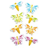 Lucks Dec-Ons Butterfly and Dragonfly Assortment, 80-Pack