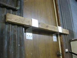 Amazon Com Drop Bar Security Door Lock Brackets Fits 2x4
