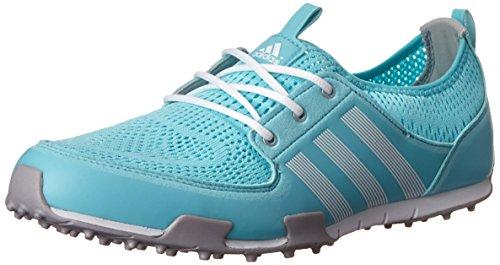 adidas Women's W CC Ballerina II Golf Shoe, Clear Aqua/Running White/Matte Silver, 7.5 M US