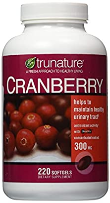 buy Trunature Cranberry 300 Mg With Shanstar Concentrated Extract - 220 Softgels