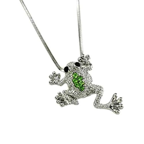 Adorable Little Frog Charm Pendant Necklace Gift Boxed Fashion Jewelry