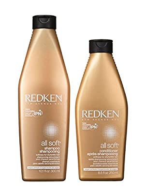 Redken All Soft Shampoo and Conditioner Set 10.1 Oz 8.5 Oz