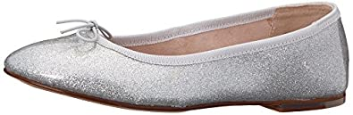 Bloch London Womens Beatrix Ballet Flat, Argento, 36 EU/6 M US