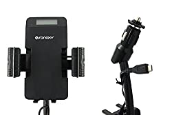 SANOXY® 3 in 1 Car FM Stereo Transmitter for your Samsung Galaxy S4 with Holder and Remote Control with Micro USB