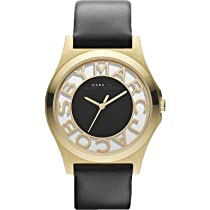 Marc by Marc Jacobs MBM1246 Mens Black Gold Henry Skeleton Watch