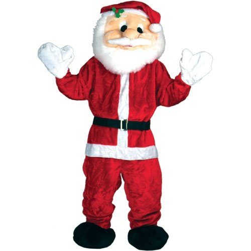 FATHER CHRISTMAS SANTA FANCY DRESS COSTUME, EXTRA LARGE GIANT MASCOT WILL FIT SIZE SMALL - XXL FITS UPTO 6FT 4 IDEAL XMAS NOVELTY