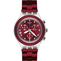 Swatch Full Blooded Smoky Burgundy Chronograph Watch SVCK4054AG