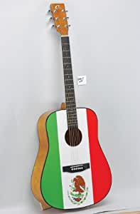 eleca mexican flag acoustic guitar musical instruments. Black Bedroom Furniture Sets. Home Design Ideas