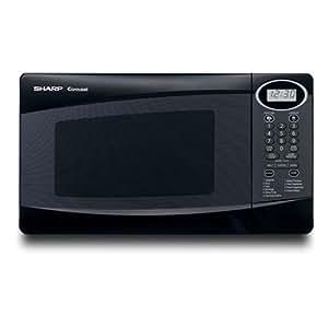 Sharp R-230KK 800-Watt 4/5-Cubic-Foot Compact Microwave, Black