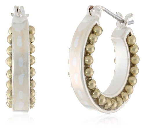 """Nine West Vintage America """"Calico Duo"""" Two-Tone Small Click It Hoop Earrings"""