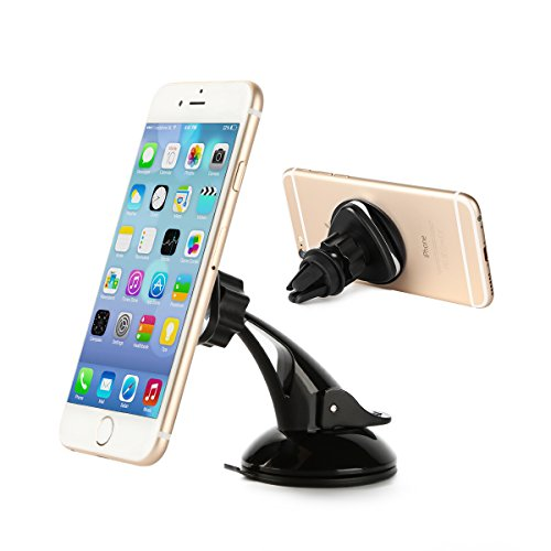 Car Phone Mount, K&F Concept Universal Magnetic Car Phone Mount for All Phone Modules iPhone/Samsung Galaxy/HTC One/Huawei/Xiaomi Car Phone Mount on Car Windscreen/Dashboard and Air Vent