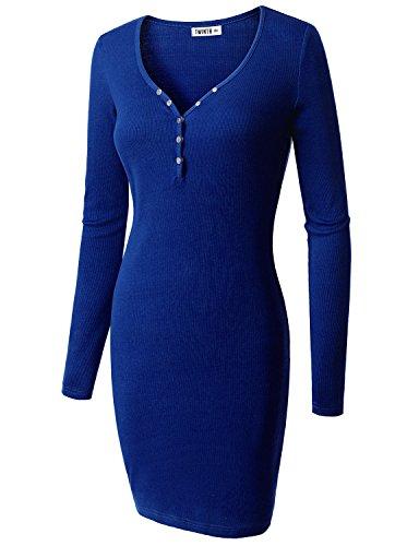 Doublju Womens Online Tula Cotton ROYAL Dress,M