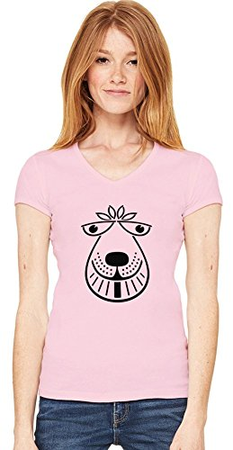 Space Hopper Womens V-neck T-shirt Large