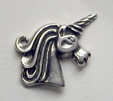An Enchanting Unicorn Stud Earring in Sterling Silver, A Single...Why Buy Two, When One Will Do?
