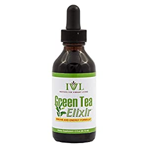 Institute for Vibrant Living Green Tea Elixir, Green Tea Concentrate (20 Cups per couple of drops), Liquid Vitamin - Immune Booster 1 Month Supply