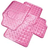 Streetwize Swtp6 Think Pink Checker Plate Mats/Mat Set