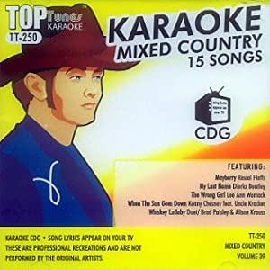 Karaoke various male and female country artists kenny for Country duets male and female songs