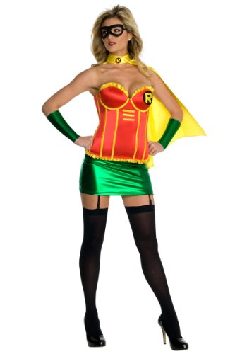 Rubies Womens Dc Comics Robin Deluxe Costume Halloween Themed Fancy Dress