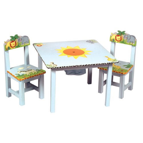 Guidecraft Safari Collection Table And Chairs Set