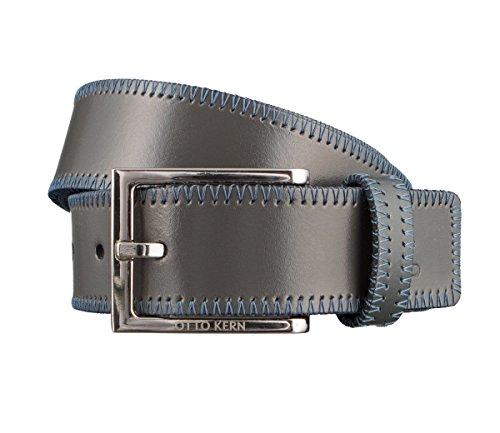 OTTO KERN Cintura di uomini Cintura di Pelle bigio 2998, Länge:85 cm;Farbe:grau