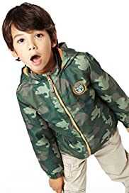 Funnel Neck Hooded Camouflage Jacket with Shower Resistant