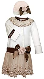 Baby Shower Gift Stephan Baby English Rose Vintage Newborn Gown and Cap