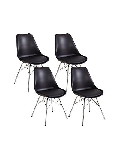 13 casa stoel set van 4 Brigitte B5 zwart