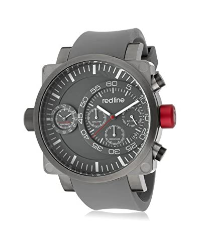 red line Men's 50048-SS-GY-014-GY Dual-Timer Grey Silicone Watch