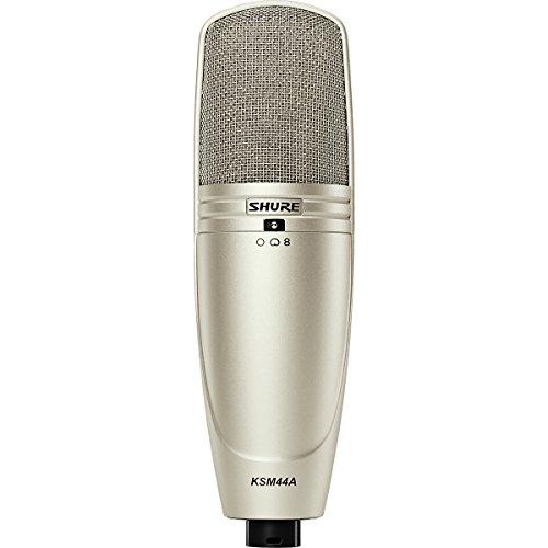 Shure Ksm44A Multi-Pattern Large Dual-Diaphragm Side-Address Condenser Microphone