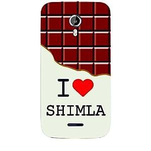 Skin4gadgets I love Shimla - Chocolate Pattern Phone Skin for CANVAS MAGNUS (A117)
