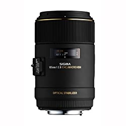 Sigma 105mm F/2.8 EX DG OS HSM Macro Prime Lens for Canon DSLR Camera