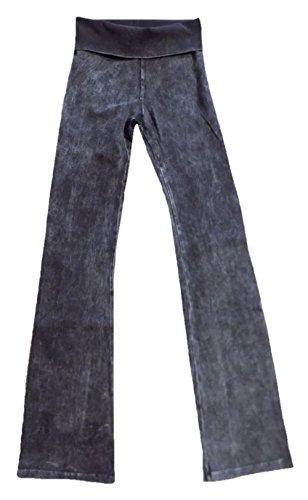 Hard Tail Rolldown Bootleg Flare - Mineral Wash - Black (S, Mineral Wash - Black)
