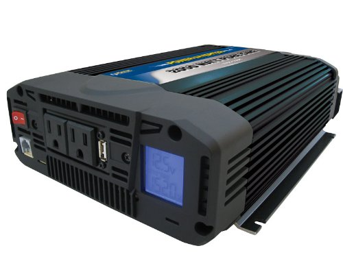Voltec 10-00487 Pure Sine Power Inverter, 2000-Watt, Blue & Black