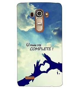 PRINTSWAG LOVE QUOTE Designer Back Cover Case for LG G4