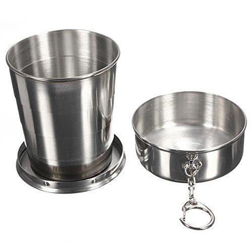 K-Steel 240ml 4oz Stainless Steel Portable Folding Telescopic Travel Cup Mug