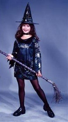 Morris Costumes Little Witchy Child Large Matching Mini-Skirt Popular