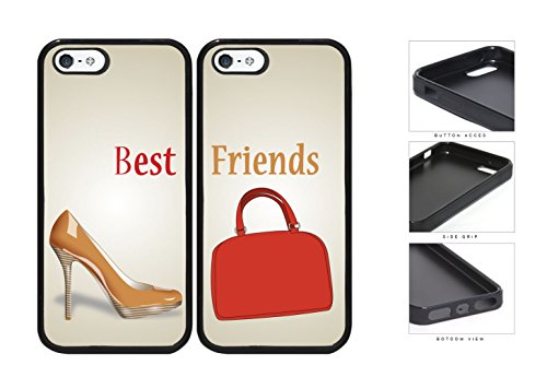 Nude Heels Red Purse Best Friends Set Rubber Silicone Tpu Cell Phone Case Apple Iphone 5 5S