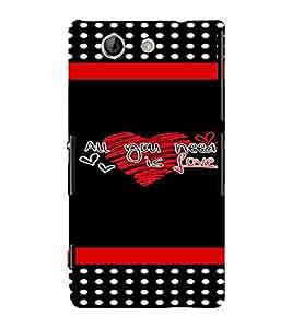 PrintVisa Love Quotes Design 3D Hard Polycarbonate Designer Back Case Cover for Sony Xperia Z4 Mini :: Compact