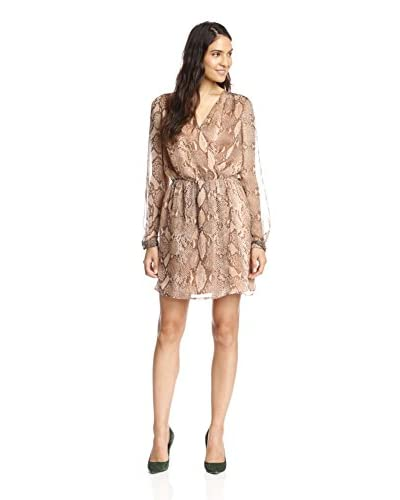 Adelyn Rae Women's Snake Print Faux Wrap Dress